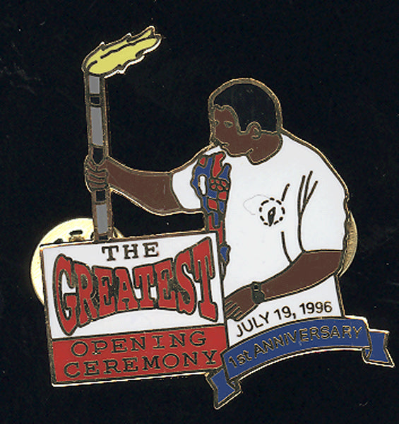 ALI, MUHAMMAD SOUVENIR OPENING DAY COMMEMORATIVE OLYMPIC PIN (1996)