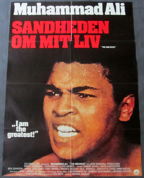 ALI, MUHAMMAD  SWEDISH POSTER FOR THE GREATEST (1977-MOVIE)