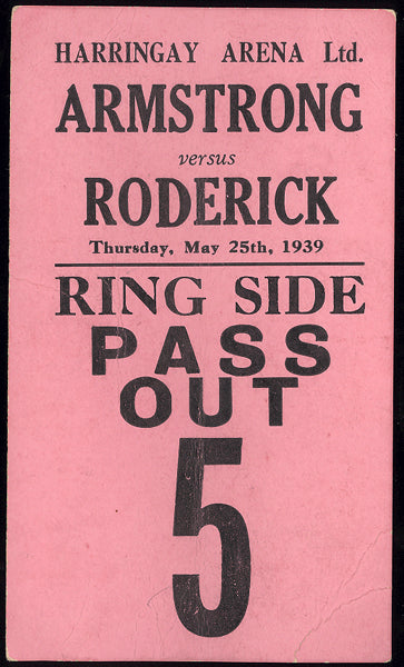 ARMSTRONG, HENRY-ERNIE RODERICK RING SIDE PASS (1939)