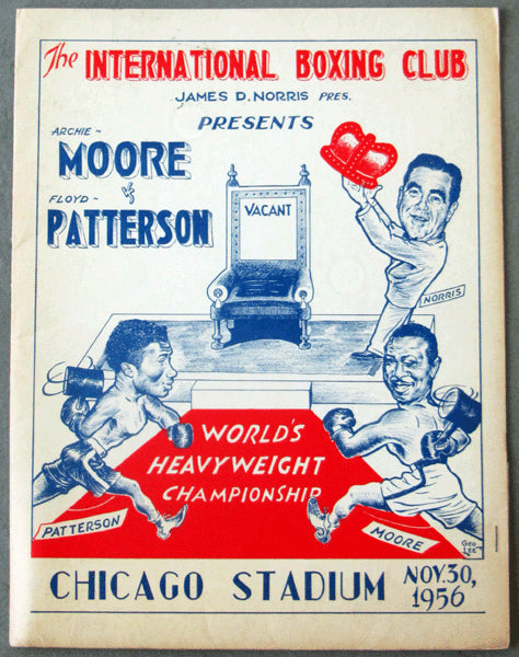 PATTERSON, FLOYD-ARCHIE MOORE PRESS KIT (1956)