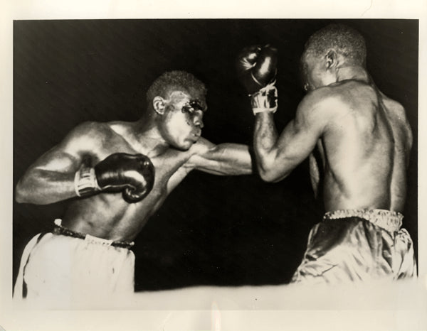 "CARTER, JIMMY-WALLACE ""BUD"" SMITH WIRE PHOTO (1955-9TH ROUND)"