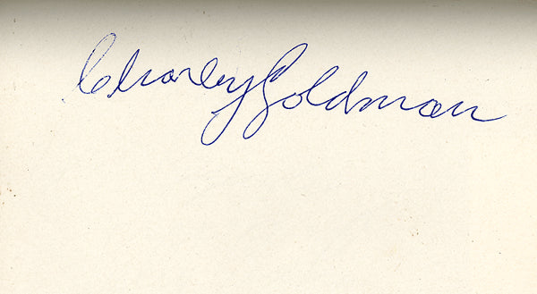 GOLDMAN, CHARLEY INK SIGNED ALBUM PAGE