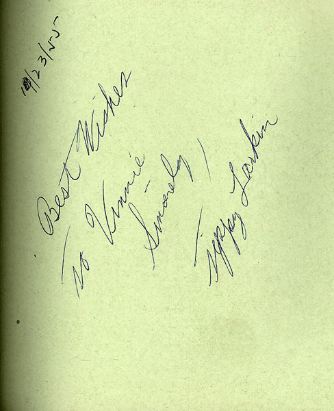 LARKIN, TIPPY INK SIGNED ALBUM PAGE