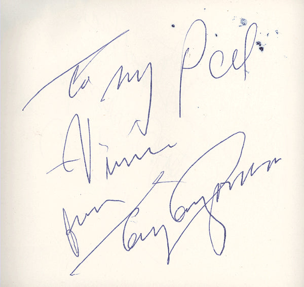 CANZONERI, TONY INK SIGNED ALBUM PAGE