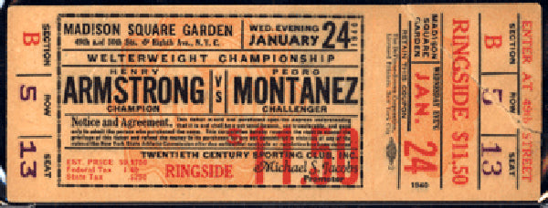ARMSTRONG, HENRY-PEDRO MONTANEZ FULL TICKET (1940)