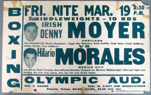 MOYER, DENNY-HILARIO MORALES ON SITE POSTER (1965)