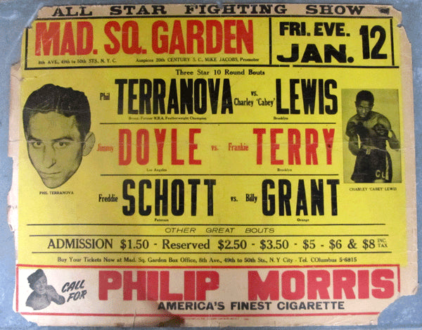 TERRANOVA, PHIL-CHARLEY LEWIS & JIMMY DOYLE-FRANKIE TERRY ON SITE POSTER (1945)