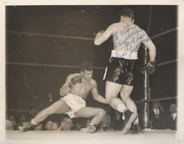 LESNEVICH, GUS SIGNED PHOTO (1948-FIGHTING BILLY FOX)
