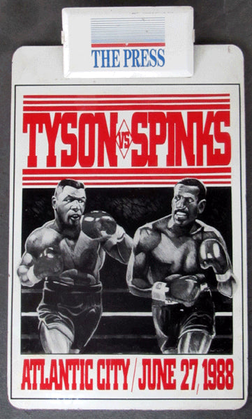 TYSON, MIKE-MICHAEL SPINKS PRESS CLIP BOARD (1988)