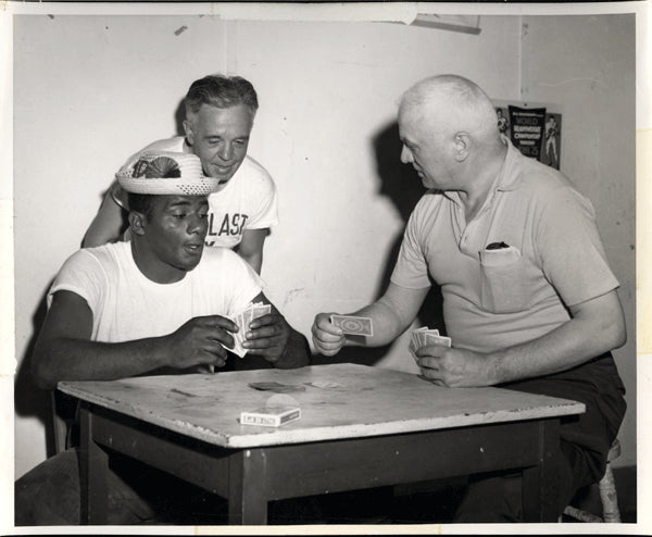 PATTERSON, FLOYD & CUS D'AMATO TRAINING CAMP PHOTOGRAPH