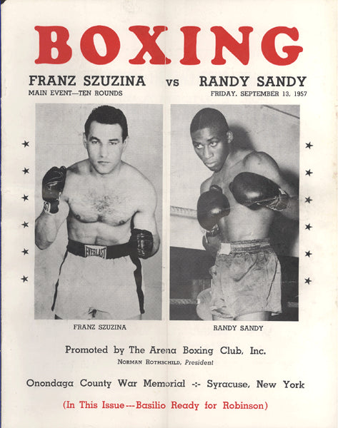 SZUZINA, FRANZ-RANDY SANDY OFFICIAL PROGRAM (1957)