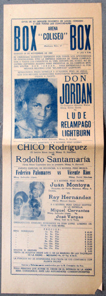 JORDAN, DON-LUDE LIGHTBURN ON SITE POSTER (1960)