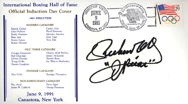 OLIVARES, RUBEN SIGNED FIRST DAY COVER (HOF-1991)