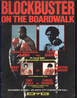 QAWI, DWIGHT MUHAMMAD-EDDIE DAVIS & TONY AYALA, JR.-CARLOS HERRARA OFFICIAL PROGRAM (1982)