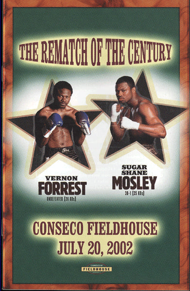 FORREST, VERNON-SHANE MOSLEY II OFFICIAL PROGRAM (2002)
