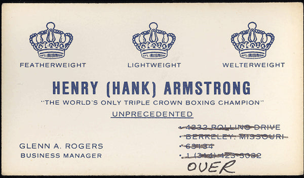 ARMSTRONG, HENRY BUSINESS CARD