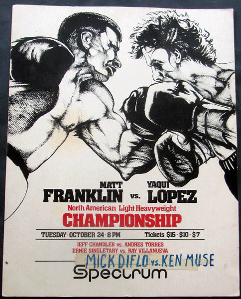 MUHAMMAD, MATTHEW SAAD (FRANKLIN)-YAQUI LOPEZ ON SITE POSTER (1978)