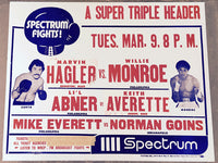 "HAGLER, MARVIN-WILLIE ""THE WORM"" MONROE ON SITE POSTER (1976)"
