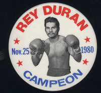 DURAN, ROBERTO SOUVENIR PIN (1980-2ND LEONARD FIGHT)