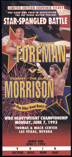 FOREMAN, GEORGE-TOMMY MORRISON FULL TICKET (1993)