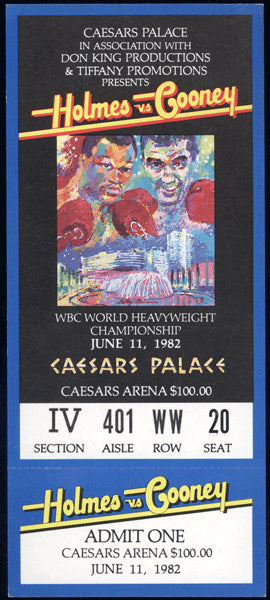 HOLMES, LARRY-GERRY COONEY FULL TICKET (1982)