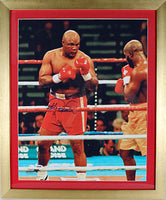 FOREMAN, GEORGE SIGNED LARGE FORMAT PHOTOGRAPH (FIGHTING MICHAEL MOORER-PSA/DNA)
