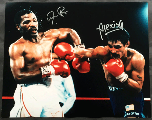 ARGUELLO, ALEXIS & AARON PRYOR SIGNED LARGE FORMAT PHOTO