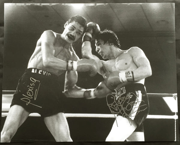 "ARGUELLO, ALEXIS & RAY ""BOOM BOOM"" MANCINI SIGNED LARGE FORMAT PHOTO"