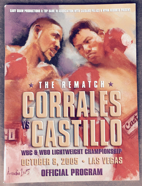 CORRALES, DIEGO-JOSE LUIS CASTILLO II OFFICIAL PROGRAM (2005)