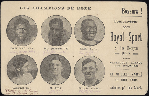 BOXING GREATS PHOTO POSTCARD