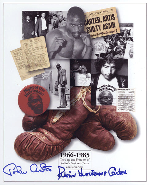 "CARTER, RUBIN ""HURRICANE"" & JOHN ARTIS SIGNED PHOTO"