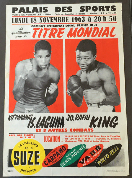 LAGUNA, ISMAEL-RAFIU KING ON SITE POSTER (1963)