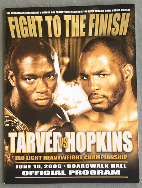HOPKINS, BERNARD-ANTONIO TARVER OFFICIAL PROGRAM (2006)