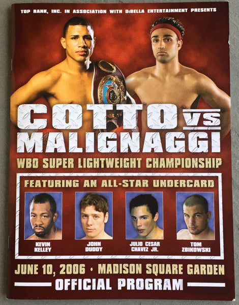 COTTO, MIGUEL-PAULIE MALIGNAGGI OFFICIAL PROGRAM (2006)