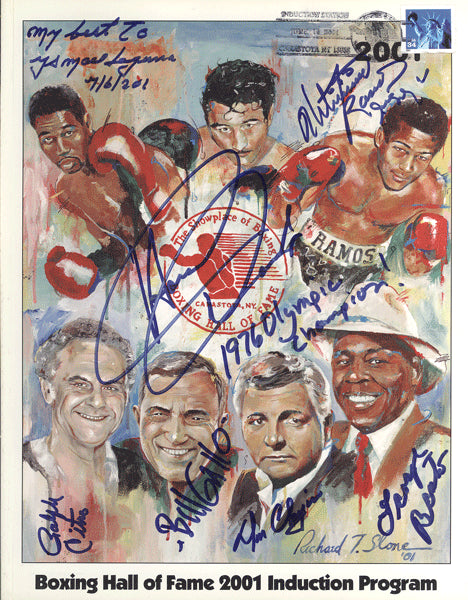 BOXING HALL OF FAME SIGNED INDUCTION PROGRAM (2001)