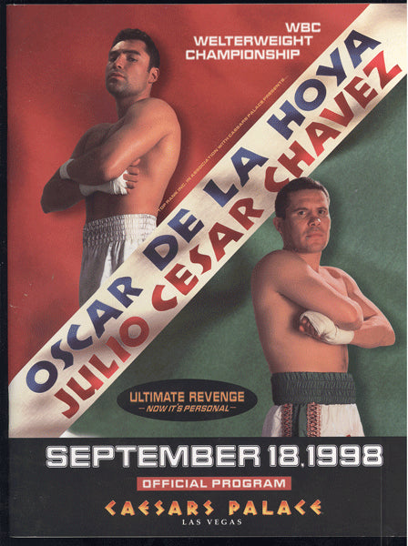 DE LA HOYA, OSCAR-JULIO CESAR CHAVEZ II OFFICIAL PROGRAM (1998)