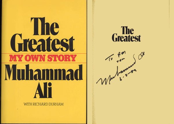 ALI, MUHAMMAD SIGNED BOOK THE GREATEST (SIGNED IN 1989-JSA)