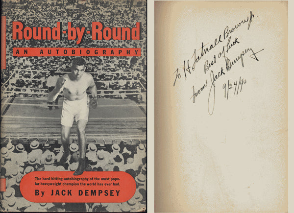DEMPSEY, JACK SIGNED BOOK ROUND BY ROUND (SIGNED IN 1940-JSA)