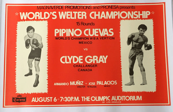 CUEVAS, PIPINO-CLYDE GRAY ADVERTISING POSTER (1977)