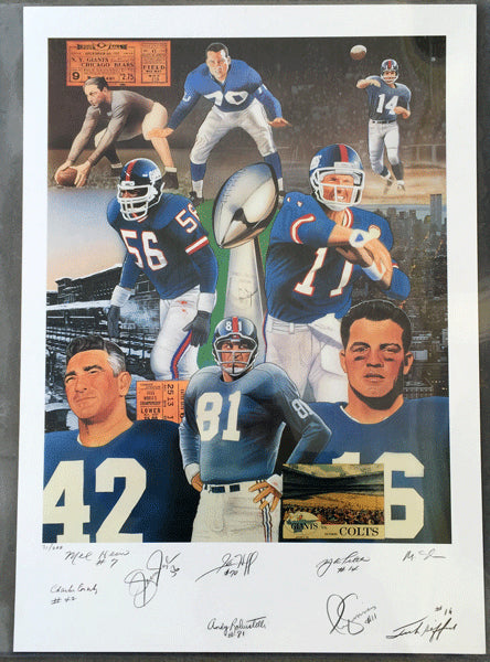 GIANTS, NEW YORK SIGNED LIMITED EDITION PRINT (JSA AUTHENTICATED)