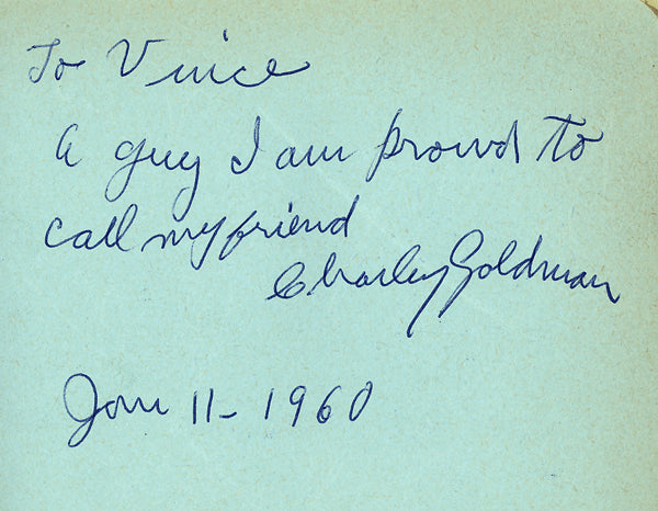 GOLDMAN, CHARLEY INK SIGNATURE (SIGNED IN 1960)