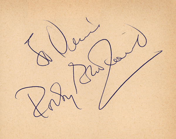 GRAZIANO, ROCKY INK SIGNATURE (SIGNED IN 1962)