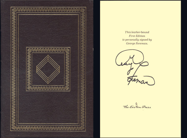 FOREMAN, GEORGE SIGNED BOOK BY GEORGE (1995-LEATHER EDITION)