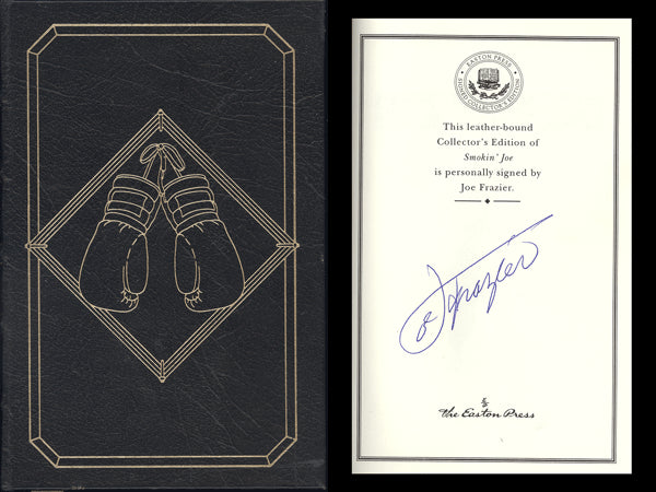 FRAZIER, JOE SIGNED BOOK SMOKIN JOE (1996-LEATHER EDITION)