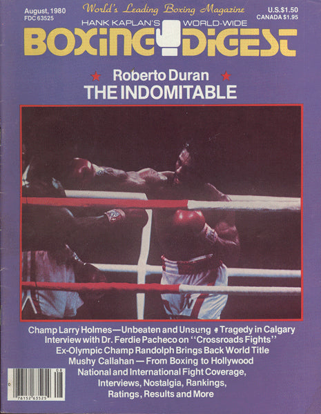 DURAN, ROBERTO BOXING DIGEST (AUGUST 1980)