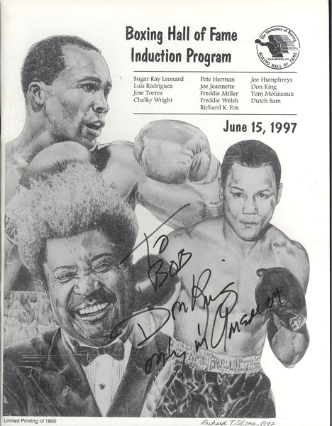BOXING HALL OF FAME INDUCTION PROGRAM (1997-SIGNED BY DON KING)