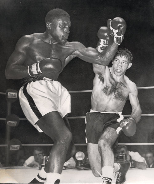 CARTER, JIMMY-PADDY DEMARCO WIRE PHOTO (1954-4TH ROUND)