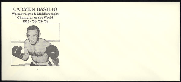 BASILIO, CARMEN WORLD CHAMPION FIGHT ENVELOPE (CIRCA 1958)