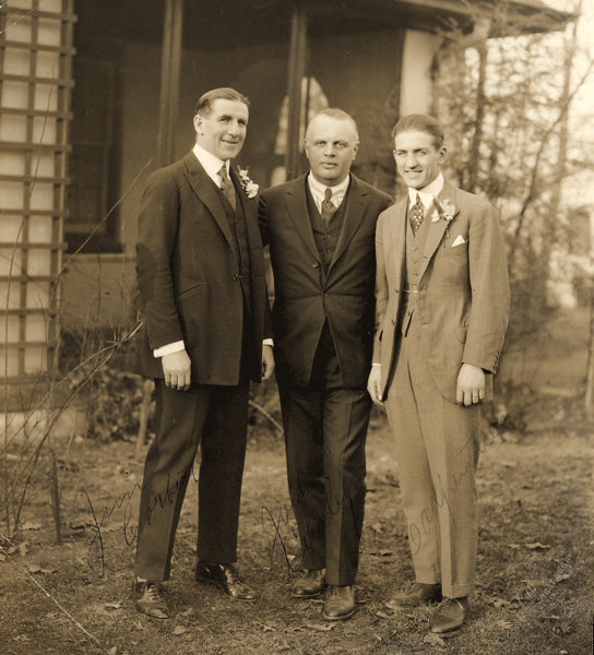 CARPENTIER, GEORGES & JAMES J. CORBETT & JACK CURLEY ANTIQUE PHOTOGRAPH (EARLY 1920'S)
