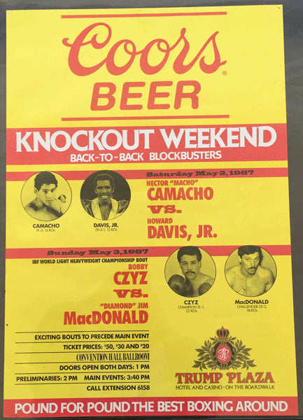 CAMACHO, HECTOR-HOWARD DAVIS & BOBBY CZYZ-JIM MACDONALD ADVERTISING POSTER (1987)